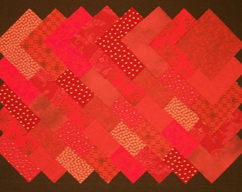 DARK RED Prints 100% cotton Prewashed 4 inch Quilt Block Fabric Squares (#A4A)