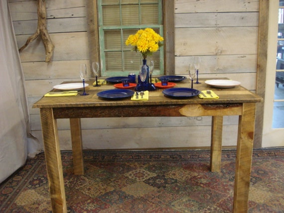Rustic dining room table 60 x 36 x 30 for Dining room table 42 x 60