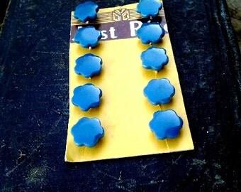 Vintage Flower Shape Buttons Set of 10