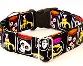 Horror Laboratory Dog Collar- Martingale & Buckle 3/4 - 2 Inch Width