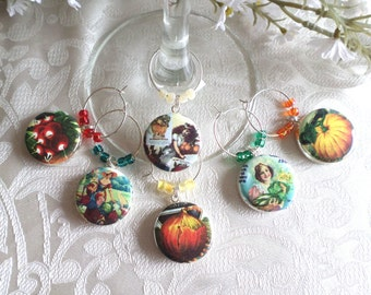 Gardening Wine & Drink Glass Charms - Set of 6