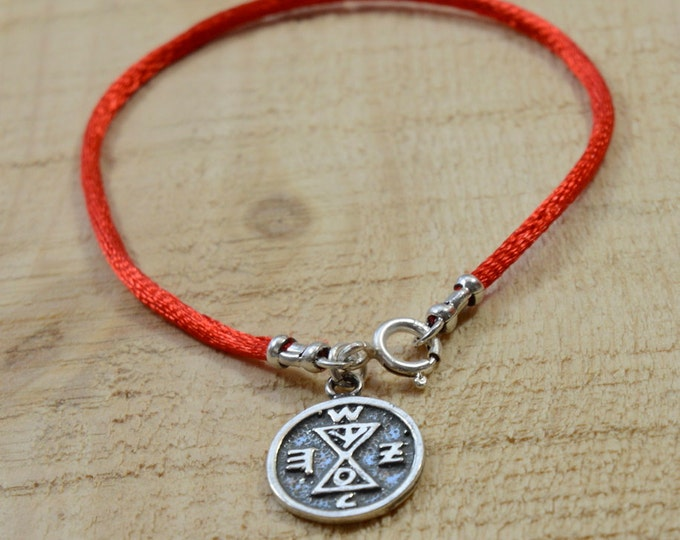 Matching Amulet on Red String Bracelet