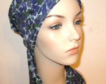 Green Grape Color  Chemo Scarf, Hat, Cancer Hat, Hijab, Alopecia MADE in USA