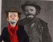 Emmett Kelly Clown Doll Miniature Old Hollywood Hobo Character