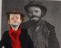 Emmett Kelly Clown Doll Miniature Old Hollywood Hobo Character