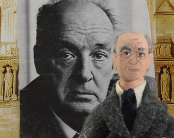 Vladimir Nabokov Doll Miniature Russian Author Classic Literary Art Collectible