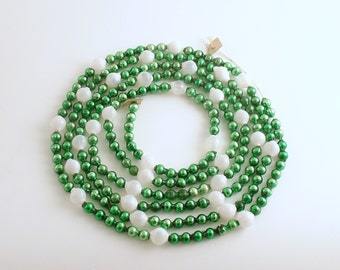 Vintage Green Glass Bead Garland Christmas Tree Garland