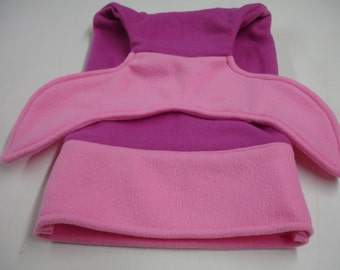 Mermaid Tail Fuschia Pink and Bubblegum Pink Fleece Blanket DOLL INFANT BABY Size 10 x 18 Ready to Ship