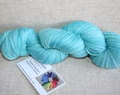 SALE! - Designer Sock Yarn Destash - 400yd - Reflections Simply Merino - Soft Mint