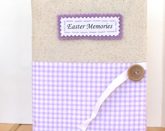 Easter photos personalized photo album rustic spring decor