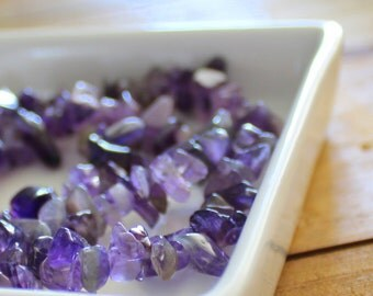 Natural Amethyst Chip Beads x 1 strand (54cm)