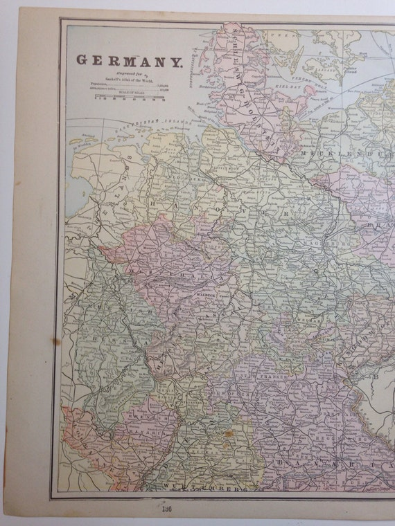 Antique 1891 Germany Map