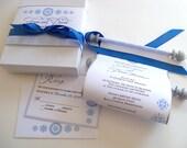 Winter wedding invitation suite, blue and silver, snowflake wedding invitation, fairytale invites, storybook winter wonderland wedding, 25