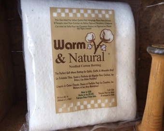 "Warm & Natural Cotton Batting 34"" X 45"""