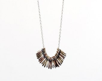 Stones / Geometric Rings Necklace