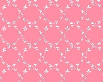 50% OFF Butterfly Dance Circles Pink - 1/2 Yard
