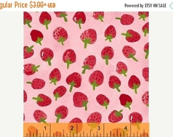 15% OFF Flower Pedals Pink Strawberries by Carolyn Gavin for Windham Fabrics