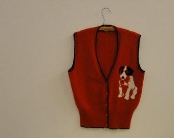 Vintage Dog Sweater Vest - Vicky Vaughn