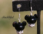 MOTHERSDAY SALE-A-Bration For the Love of Mickey Mouse Disney Inspired DeSIGNeR Lampwork Glass EaRRiNgs Disneyland Magic
