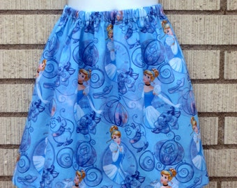 Disney Inspired Cinderella Girls skirt (Sizes 6M to size 7)