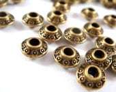 25 Antique Bronze Bicone Metal Bead LF/NF/CF 6.5x4mm, 2mm hole - 25 pc - M7045-AB25