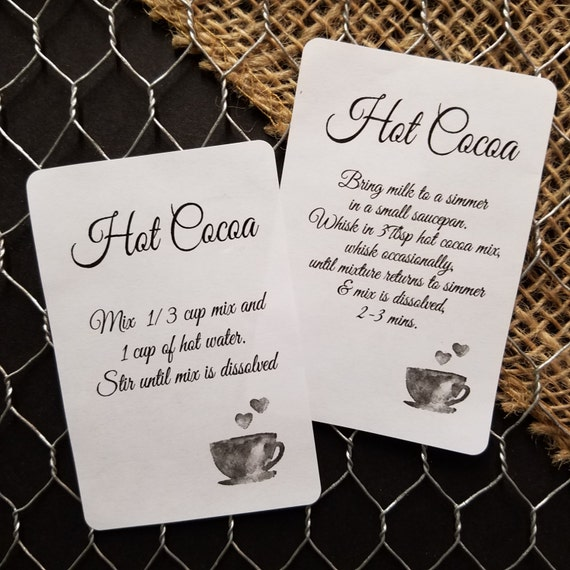 "120 Hot Cocoa Directions 2"" x 3""  STICKER"