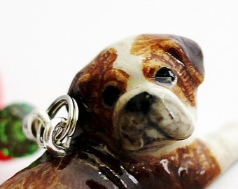 Bulldog Christmas Ornament, Dog Ornament, Puppy Christmas Ornament, Handmade Tree Ornament, English Bulldog, Animal Pet Ornament Hendywood