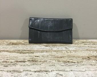 Vinyl Women's Wallet, Pocket book, Vegan Women's Wallet, Grey Wallet, Change Purse, Check Book Cover