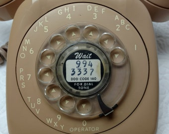 1970s Old Rotary Dial Telephone