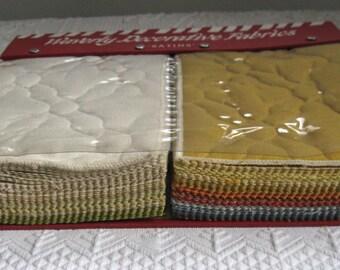 fabric sample book . wavily decorative fabrics . satins . quilt fabric . upholstery fabric samples
