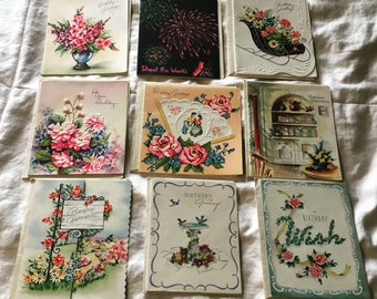 Collection of 1950's Birthday Cards never used