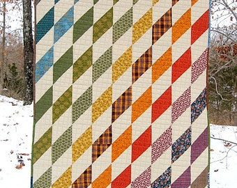 "modern lap quilt, baby quilt..49"" x 37""...harlequin style...modern quilt...ready to ship"