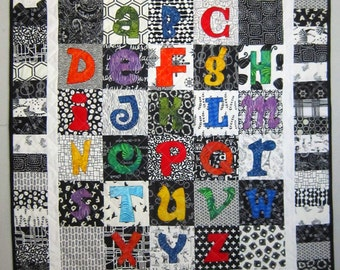 Learning My ABCs Alphabet Applique Quilt from Quilts by Elena