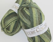 Green Yarn Olive Emerald Forest green blend Encore Knitting Worsted Colorspun Yarn self striping Color 7148