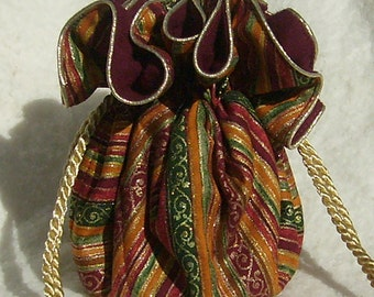 Anti Tarnish Jewelry Pouch, Bag in gilded stripe