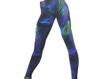 SHOWROOM SALE xxs/xs - Purple Peacock Hot Yoga Pant Low Rise Legging SXYfitness