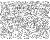 Adult Coloring Page ~ Dragon Doodle