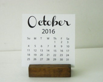 2017 Desktop Calendar (4 x 4) with wood Stand