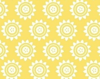 Windham Fabrics Oh Clementine Buttercup - Cotton Quilting Fabric - 1 Yard