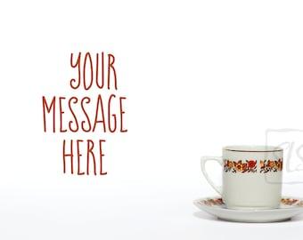 Vintage tea set Mockup Styled Stock Photography flowers coffee cup Background Desktop Wallpaper #212