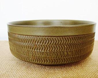 vintage denby chevron camelot vegetable bowl serving bowl 7inch dark green