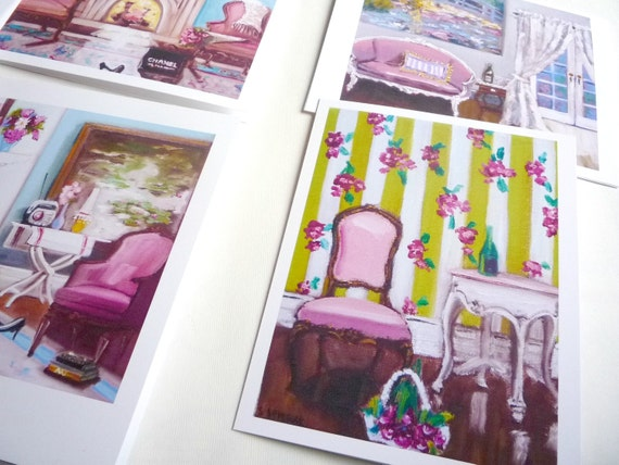 Paris Cards, Paris in Pink Note Card Collection