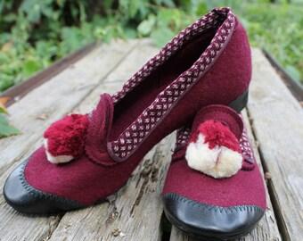 1940s Wool Heels 7.5