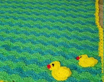 Shells Duck Baby Blanket