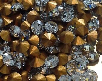 24 pp24 Shadow Crystal 24pp Art #1012 Vintage pp24 Swarovski Shadow Crystal SS12 3mm Chatons 3mm Brillion Swarovski pp24