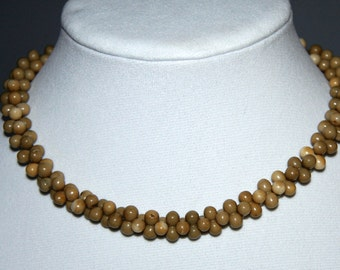 Antique  Onyx Quartz Stone Necklace Hand carved Stones 1800s
