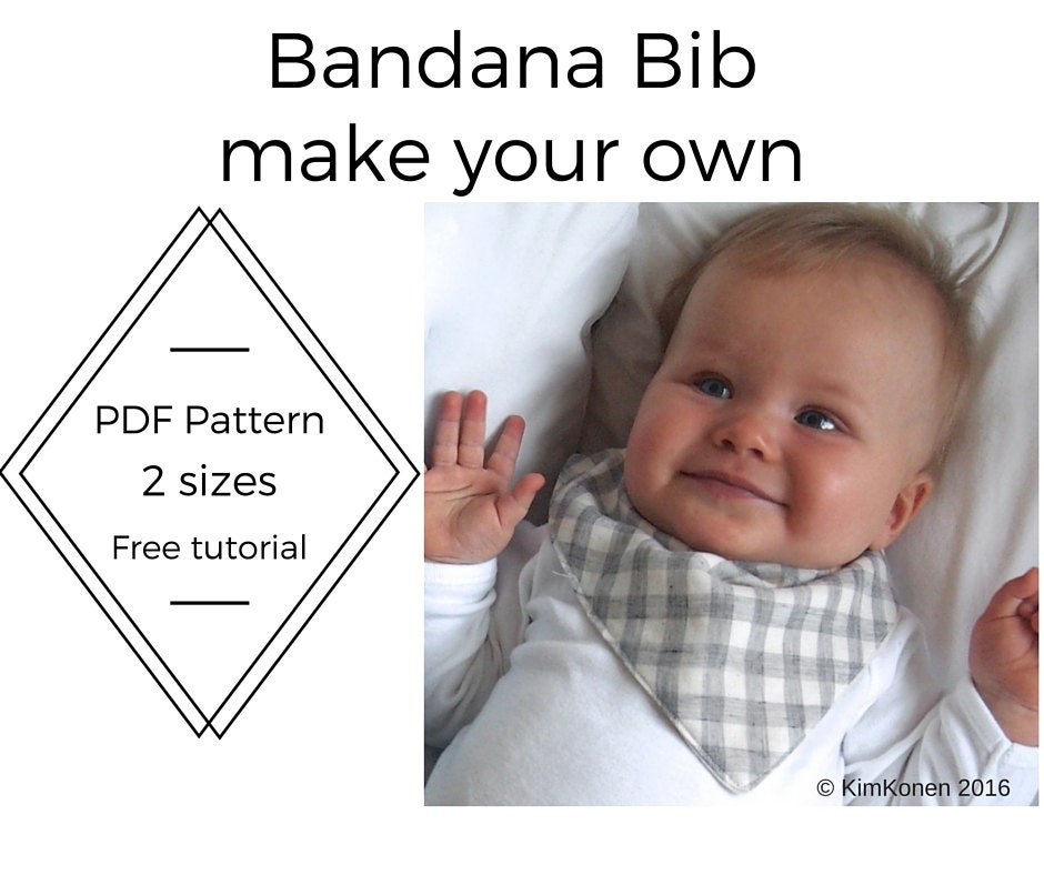 Bandana Bib Pdf Pattern Tutorial Digital Download