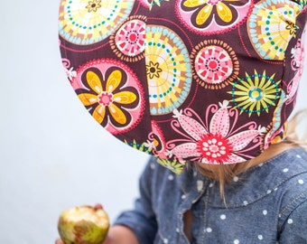 UB2 PRETTIEST PETAL a deeply toned, rainbow-honed, perfect floral bouquet of a baby summer sun hat bonnet The Urban Baby Bonnet (all sizes)