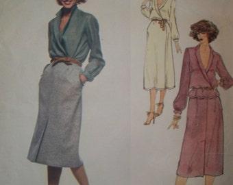 Vogue 1972 Calvin Klein Dress, Skirt, Blouse Pattern Vogue American Designer