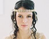 1920s wedding headband, chain forehead band - Parisian Headaband no. 2049